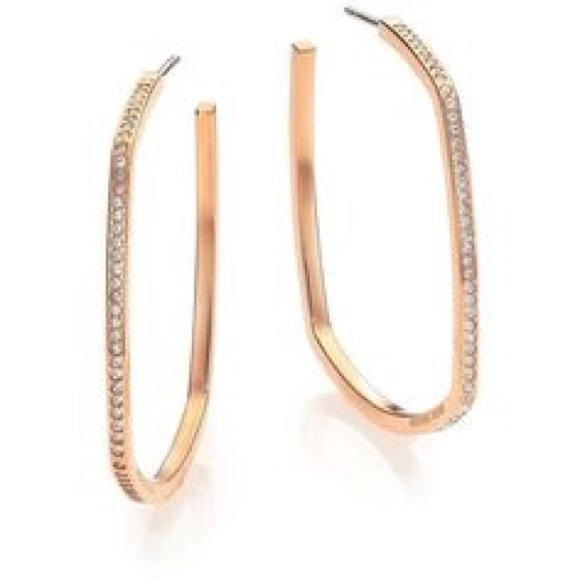 6088f90265a5 Michael Kors cityscape hoop earrings